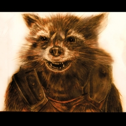 rocket raccoon_drawing